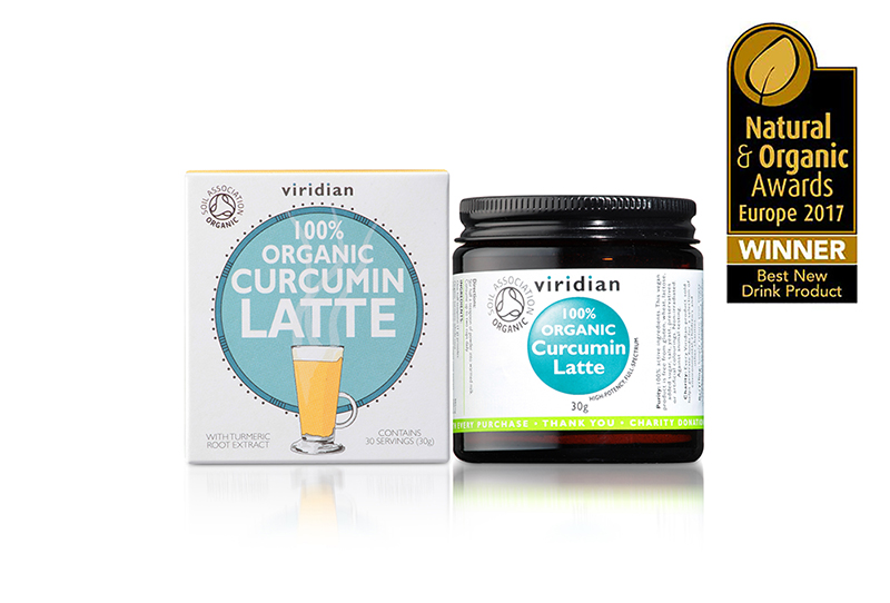 Organic Curcumin Latte by Viridian Nutrition Wins Best New Drink